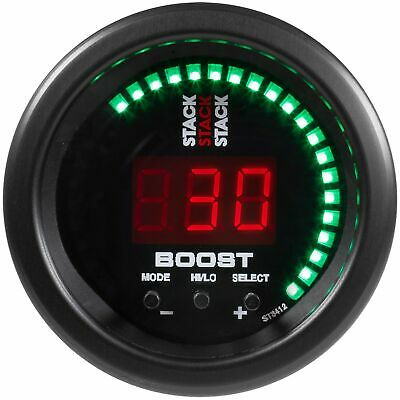 Stack Electronic Car Turbo Boost Controller Digital Gauge | Black Dial Face