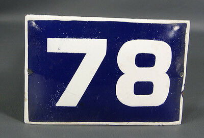 Wwii German Door House Street Porcelain Enamel Tin Sign Plate Plaque Number #78