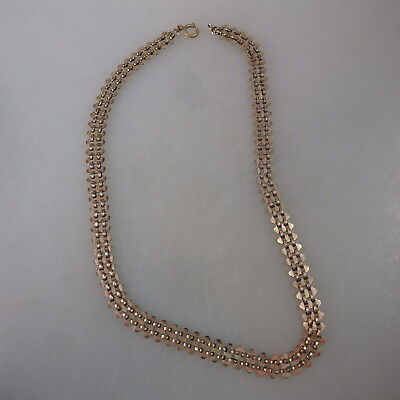 Geschmeidiges lange Collier Golddouble um 1900 (46780)
