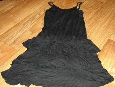 424595e5c616ce FLOWERS BY ZOE Girls Size Large Adorable Black Ruffled Dress -  9.99 ...