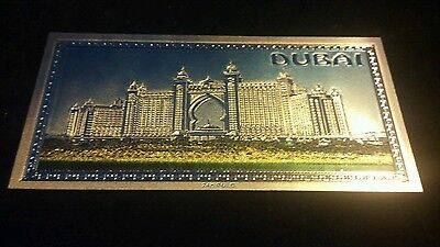 ~Amazing Colored Raised-Detaild~ .999 Gold Dubai Banknote~Free Shipping In U.s~