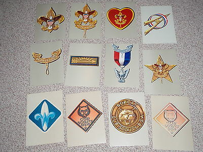 Boy Scout Of America Posters Cub Scouts Made Usa Litho Prints Late 1950-1960's