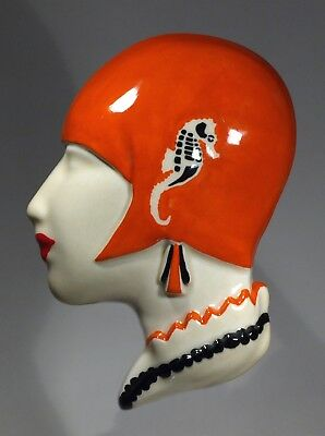 Echo of Deco Art Deco Inspired Tamara de Lempicka wall mask