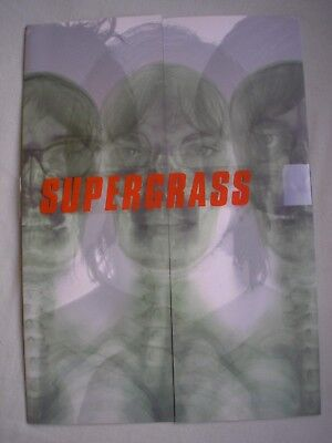 SUPERGRASS promo pack A4 folded with intact obi strip 1999 ex