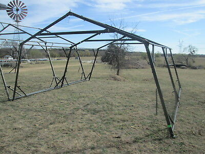 16' x 16' Used Temper Tent Frame, Expandable Tent, Good Cond. Military Tent