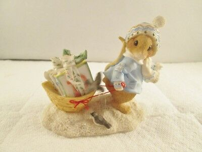 Enesco Priscilla's Mouse Tales Figurine, I'LL BE HOME FOR CHRISTMAS 1996 #178705