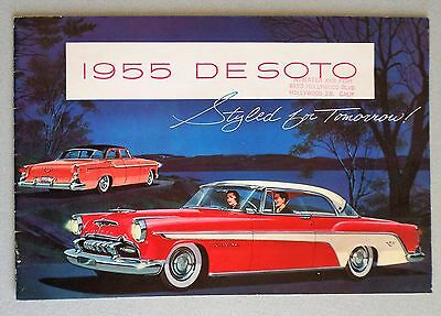 1955 DESOTO SALES CATALOG (Hollywood, Ca. Dealership)