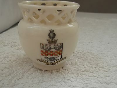 Model Of A  Vase With Pierced Rim  Crested Chatham By Gemma China