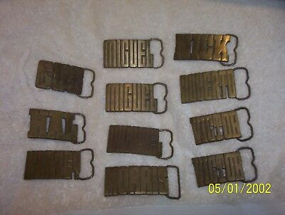 Aminco Solid Brass Belt Buckle, Vintage 1970's, Cut Out Name Letters, Gus Hal