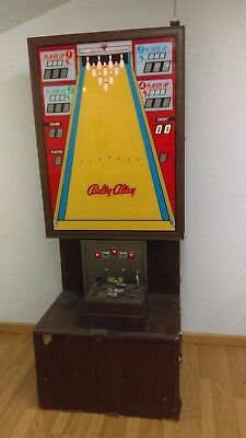 Vintage 1974 Bally Alley Bowling Game 25 Cents Arcade 4 Player With Remote Unit