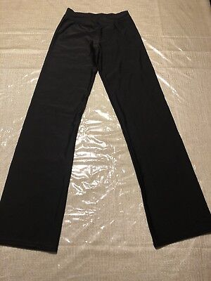 Theatricals Dance Jazz Pants Nylon Spandex Black Size Small S