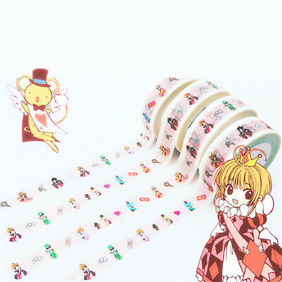 Anime Card Captor Sakura Kinomoto Paper Maksing Washi Tape DIY Scrapbook Sticker