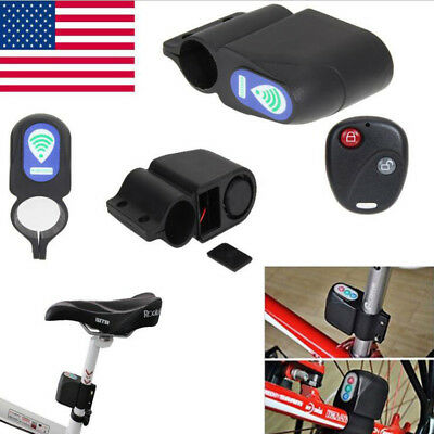 CW/_ Bicycle Bike Anti-Theft Security Alarm Lock Sound Alert with Remote Control