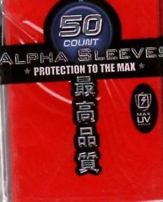 Max Protection Card Protection Neo Sleeves - Alpha Red (50) MINT