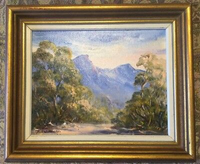Beth Wilkinson Blue Mountains Framed Oil Painting