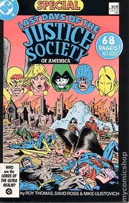 Last Days of the Justice Society Special #1 1986 VG Stock Image Low Grade