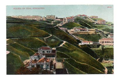 HONG KONG, CHINA ~ OVERVIEW OF HOUSES ON THE PEAK, PIENS PUB ~ c. 1904-14