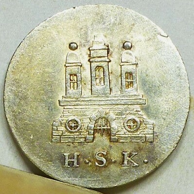 Germany Hamburg Silver Schilling 1828-HSK Almost Uncirculated NO RESERVE