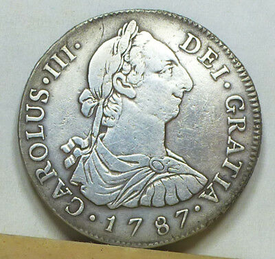 Guatemala 4 Reales 1787 NG-M Fine Condition