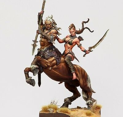 Centaur and Wild Elf / FIGURE RESIN KIT / 75mm / Free Shipping Worldwide 75-094