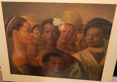 Tim Ashkar Beauty Of Color African American Huge Lithograph