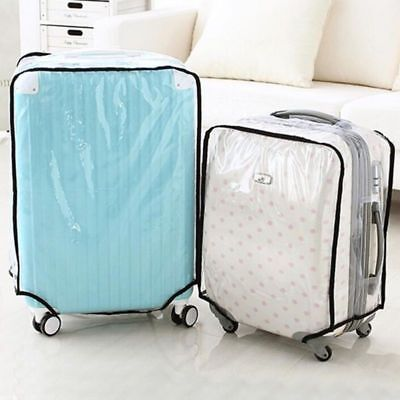 Waterproof Dustproof Luggage Suitcase Cover Protective Cases Covers Clear New