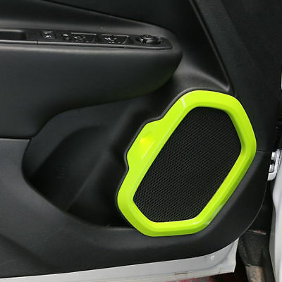 Left Right Side Door Speaker Cover Moulding Trim 4pc For Jeep Renegade 2015-2017