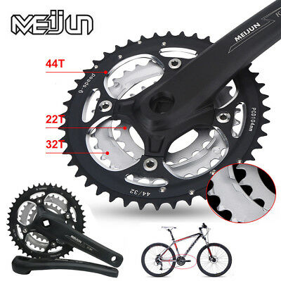 9/27 Speed Moutain Bike Bicycle Crank Crankset 22-32-44T FOR Shimano Tool