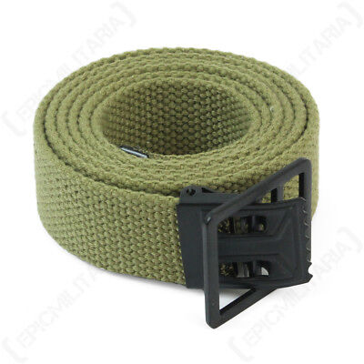 US Trouser Belt - Reproduction WW2 American GI Canvas Military Army Rugged New