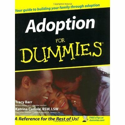 Adoption for Dummies (For Dummies (Lifestyles Paperback - Paperback NEW Barr, Tr