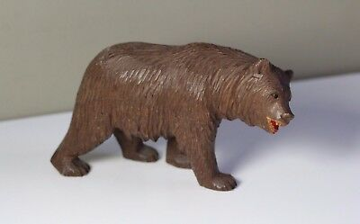 Antique Early 20thC Black Forest Carved Wood Bear Figure