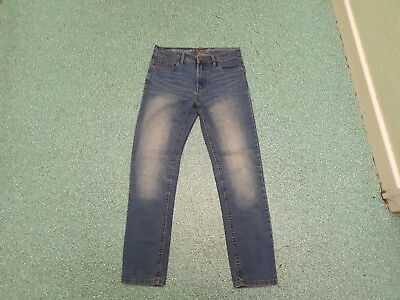 "Denim Co Skinny Jeans Waist 28"" Leg 27"" Faded Medium Blue Boys 11/12Yrs Jeans"