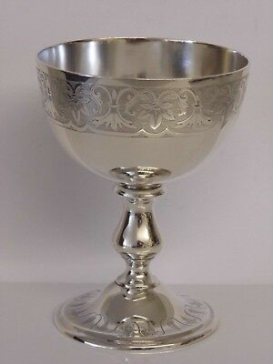 A Fine Antique Victorian Solid Sterling Silver Wine Goblet By E J Barnard 1859
