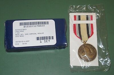 US Military Issue Iraq Campaign Uniform Medal Ribbon Set Regular Sized OIF OEF