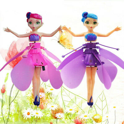 Cute Flying Fairy Magic Infrared Induction Control Princess Dolls Toy Xmas Gift