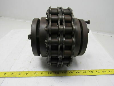"""R-1 Tapered 2-3/8"""" & 2-7/16"""" Bushing Bore  # 100 Roller Chain Drive Coupling"""