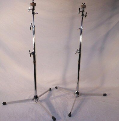 2 Excellent Vintage 1972 Slingerland Model 33F Flush Base Cymbal Stands