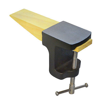 Clamp On Combination Wooden Bench Pin Peg and Anvil Jewelry Making Tool