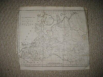 Antique 1783 North Northern Arctic Russia Lapland St Petersburg Copperplate Map