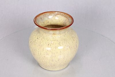 Vintage Prinknash Pottery Lovely Speckled Brown Cream Pot Vase Rose Bud Urn