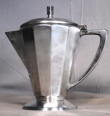 Art Krupp Berndorf Deco Hotel Silver Covered Creamer Syrup Pitcher Germany