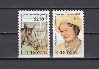 Redonda-Antigua, 1980 issue. Queen Mother`s 80th Birthday issue. Horse shown.