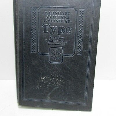 WOW Vintage Barnhart Bros & Spindler Letterpress Foundry Types & Equip Catalog
