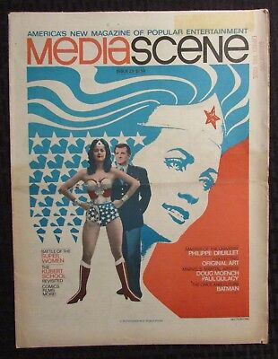 1977 MEDIASCENE Newspaper Magazine #22 FN+/VG+ Wonder Woman / Wrightson