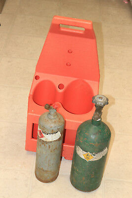 Used Portable Oxygen Acetylene Oxy Welding Cutting Tanks with tote