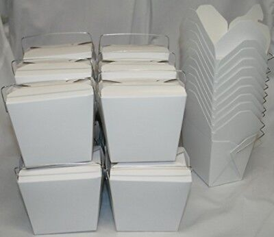 AMK Chinese Take Out To go Food Boxes 16 oz. (1 Pint) Lot Of 50 White food