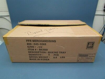 Box of 6 New FFR Merchandising Baguette / French Bread Pans Open Box 9922518978