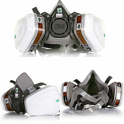 3M 6200 Half Face Dust Gas Mask reusable respirator Painting Spraying Filters