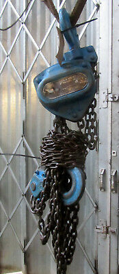 3 TON CHAIN HOIST BLOCK AND TACKLE 3mtr DROP HEAVY DUTY THREE TON REF 4601D