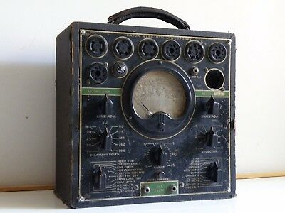 c.1935 PATON PALEC MODEL VCT-V RADIO OZ VALVE TUBE TESTER MULTI-METER, POWERS ON